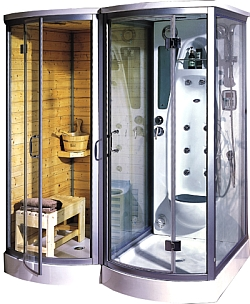 ever wanted a combination shower sauna