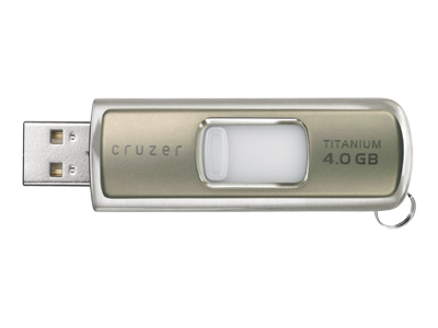 SanDisk Cruzer Titanium w/ Windows Readyboost (4GB, silver)