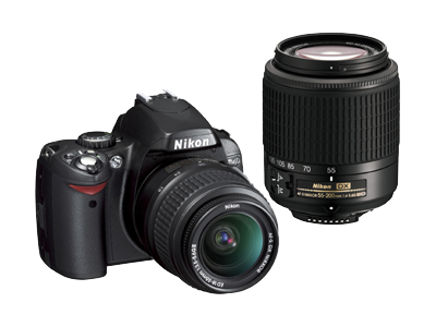 Nikon D40 (with 18-55mm and 55-200mm lenses)