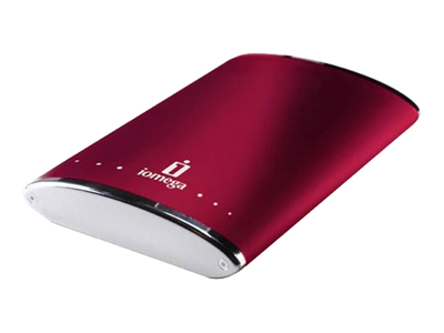 Iomega eGo Portable Hard Drive (160GB, Cherry Red)
