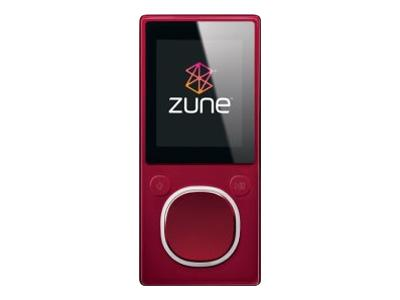 Zune (second generation, 8GB, red)