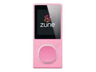 Zune (second generation, 4GB, pink)