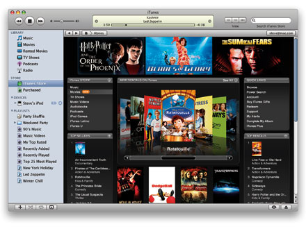 iTunes Store in the US with movie rentals