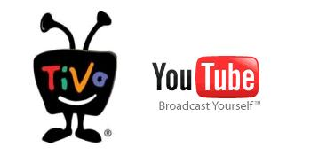 TiVo and YouTube logos
