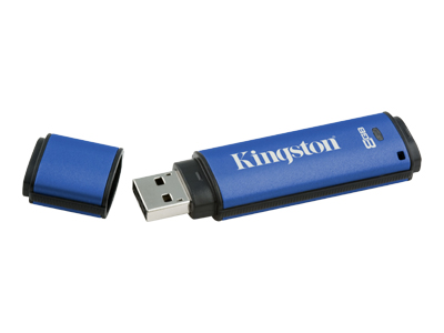Kingston DataTraveler Vault - Privacy Edition - USB flash drive - 8 GB