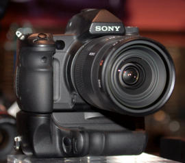 Sony's prototype flagship SLR as it was displayed at PMA earlier this year.
