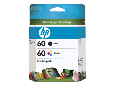 HP 60 Combo Pack - CD947FN - print cartridge - black, color (cyan, magenta, yellow)