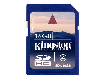 Kingston - flash memory card - 16 GB - SDHC