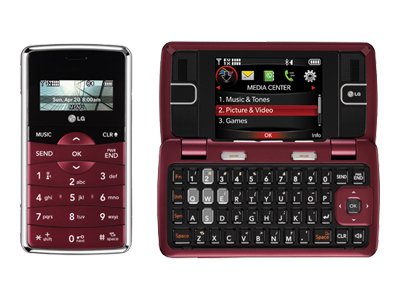 LG EnV2 - maroon (Verizon Wireless)