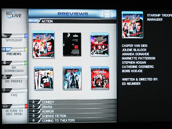 Profile 2.0 allows for Internet-enabled features, such as downloading movie trailers.