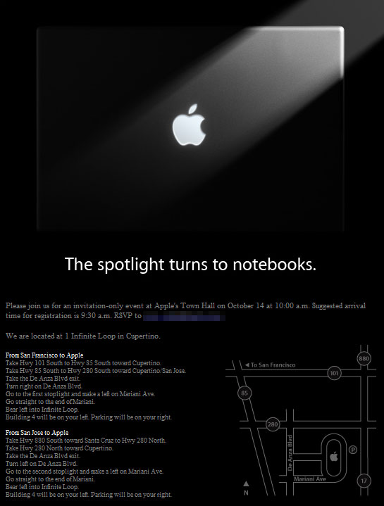 Apple invite notebooks