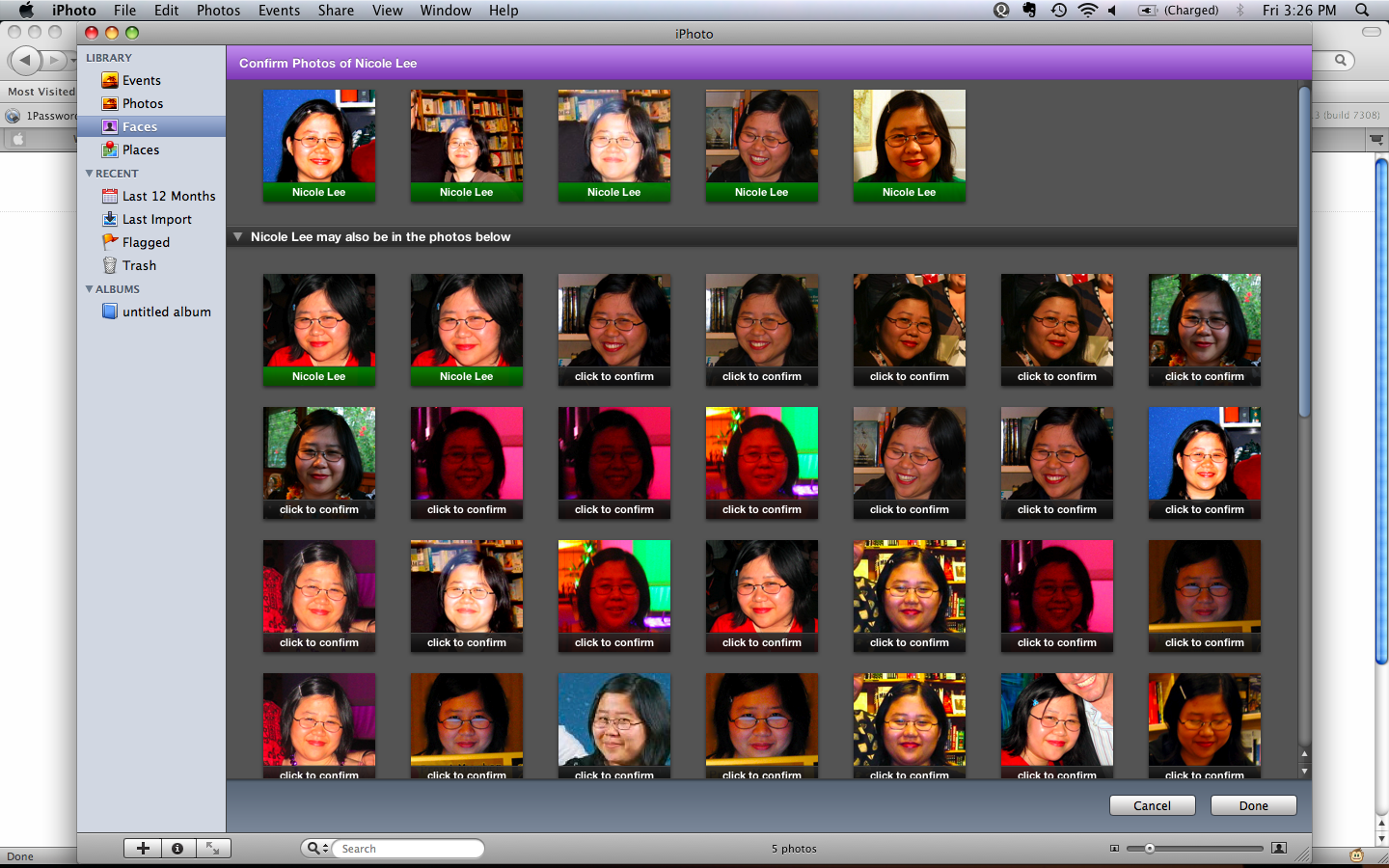 Once you're done adding the name to the face, you can then run the face detection engine. After that, you should go through the list of results to confirm or not confirm them.