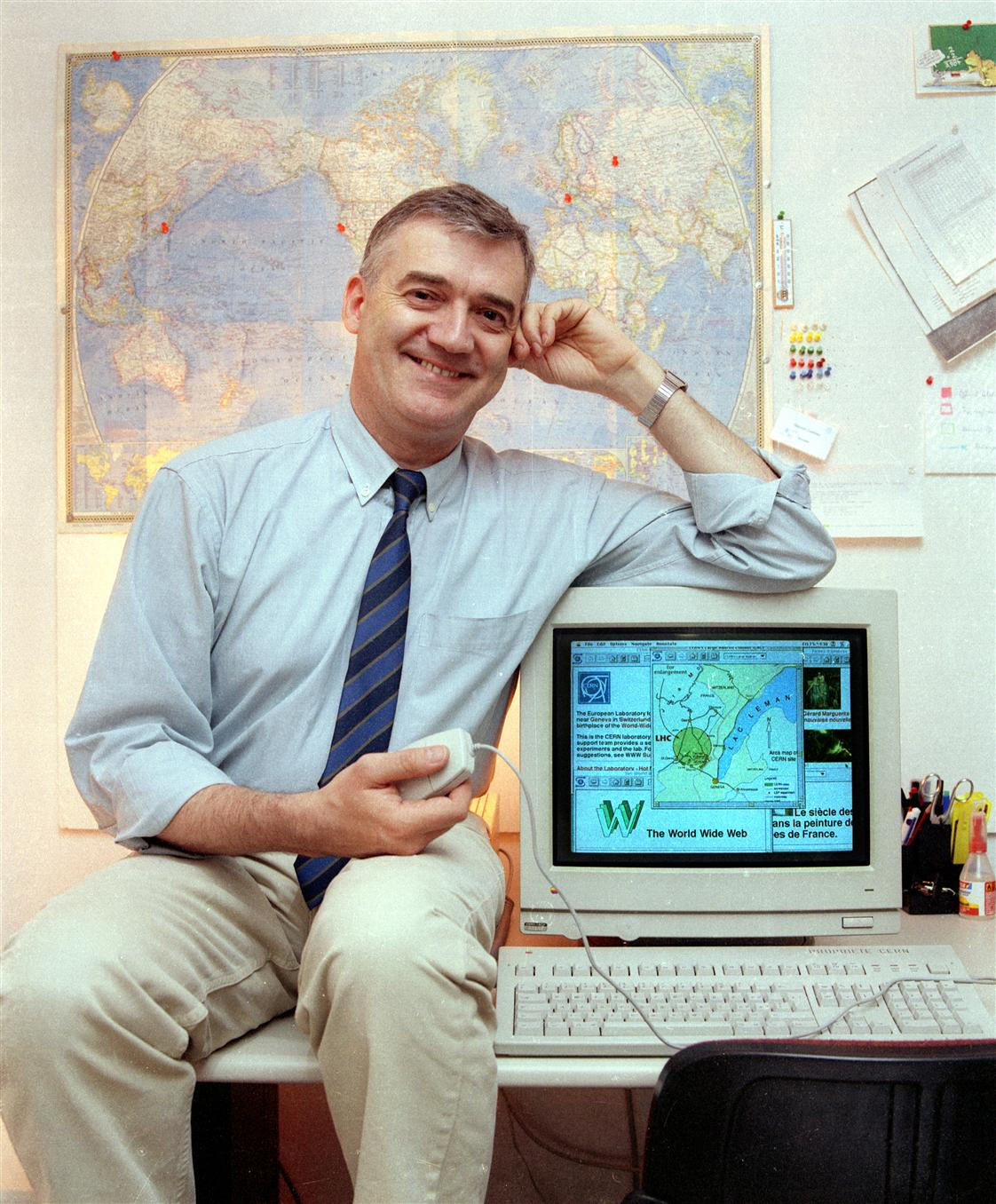 CERN systems engineer Robert Cailliau