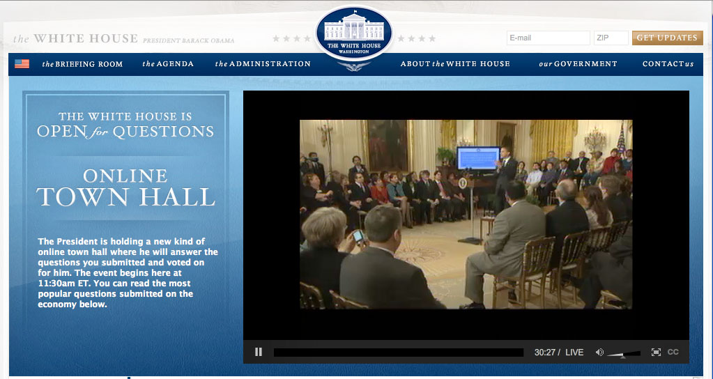 White House online town hall
