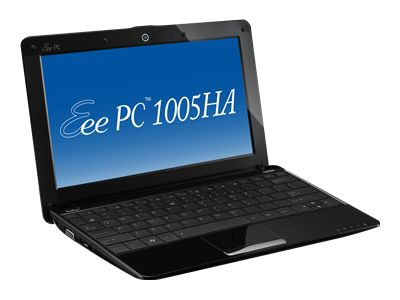 Asus Eee PC 1005HA (Intel Atom N280 1.66GHz, 1GB RAM, 160GB HDD, XP Home, black)