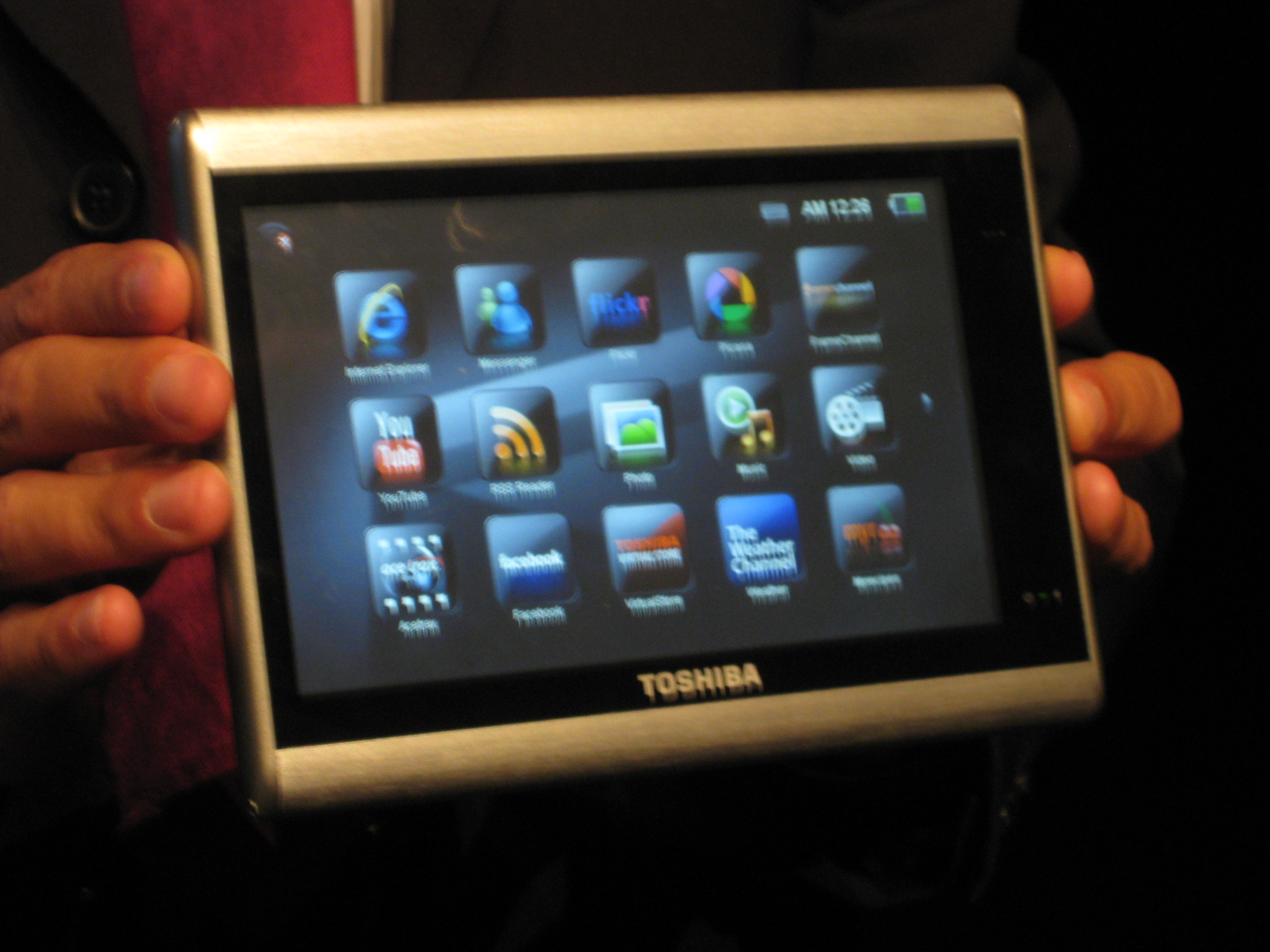 Toshiba touchscreen tablet