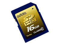 A-Data Turbo series flash memory card - 16 GB - SDHC