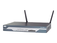 Cisco 1803W Integrated Services Router - wireless router - ISDN/DSL - 802.11a/b/g - desktop