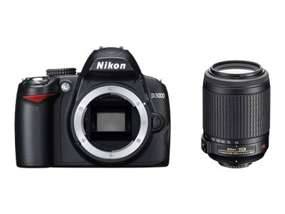 Nikon D3000 (with 18mm-55mm and 55mm-200mm VR lens)