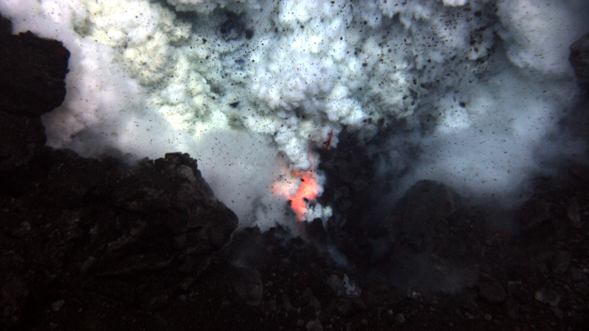 Deep-sea volcanic eruption
