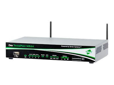 Digi TransPort WR44 - wireless router - cellular modem - 802.11b/g - desktop