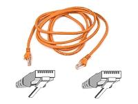 Belkin patch cable - 6.6 ft - orange