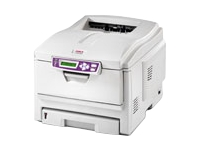 OKI C5100n - Printer - color - LED - Legal, A4 - 1200 x 600 dpi - up to 20 ppm (mono) / up to 12 ppm (color) - capacity: 400 sheets - USB, LAN
