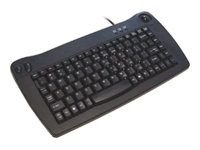 Adesso Mini Trackball USB Keyboard (Black)