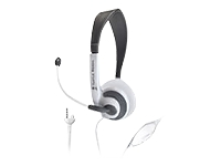 Nintendo DS Ear Force D2 Stereo Headphones + Boom Mic (White)