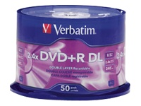 Verbatim - DVD+R DL x 50 - 8.5 GB