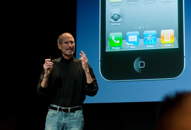 Steve Jobs at iPhone 4 antenna press event