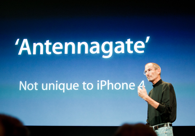 Steve Jobs at iPhone 4 press event