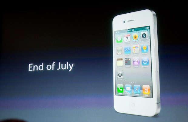 White iPhone to be available in July.