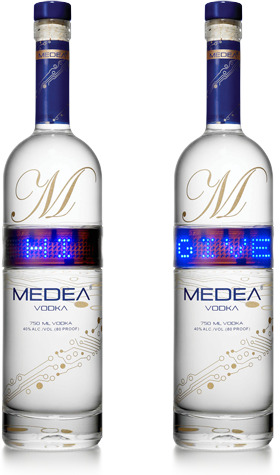 LED Vodka bottles
