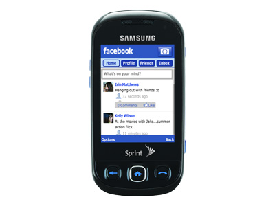 Samsung Seek - cool blue (Sprint)