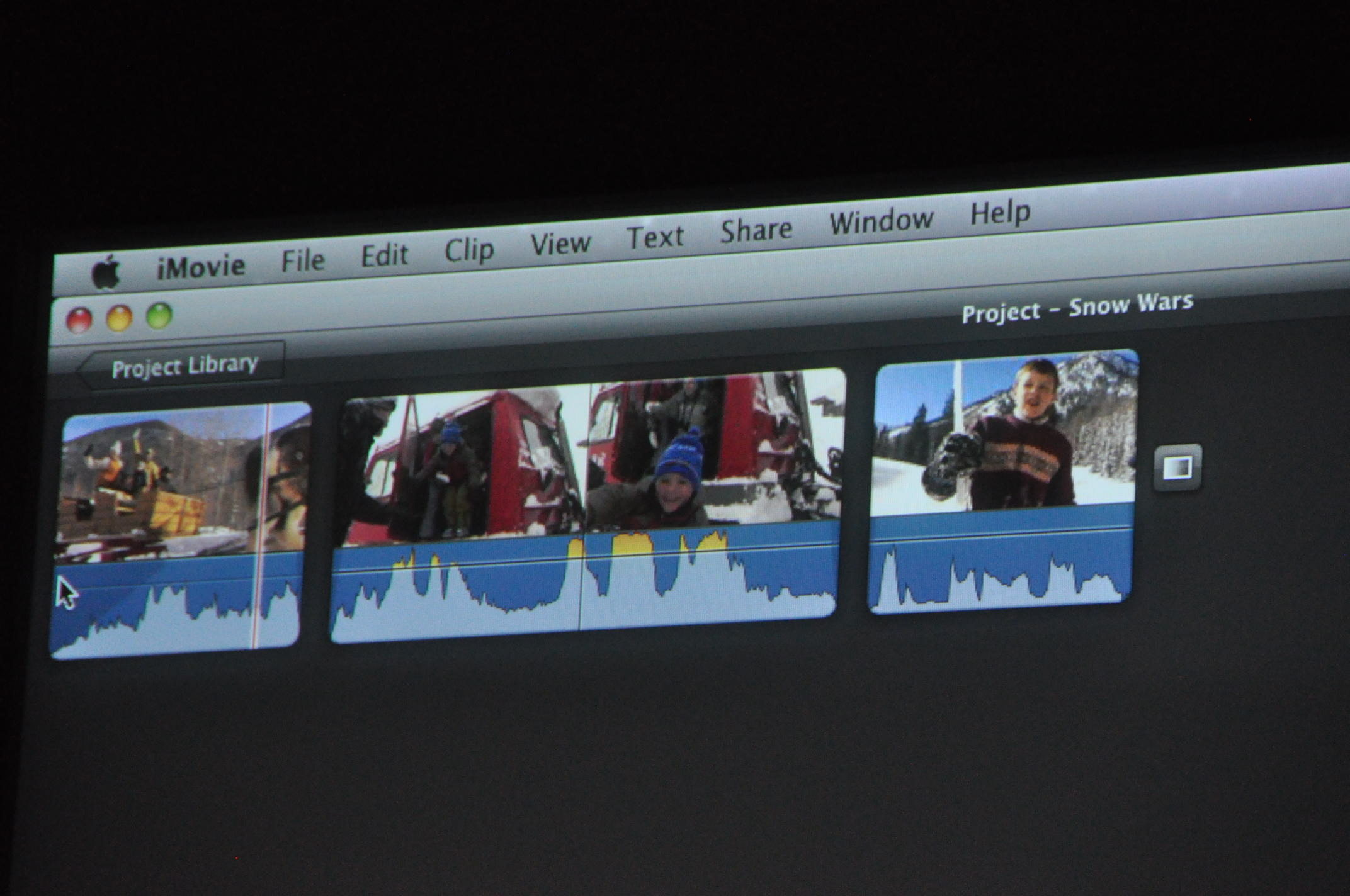 iMovie audio editing