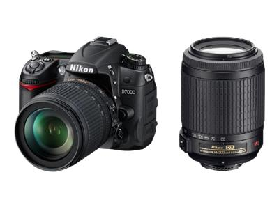 Nikon D7000 (with 18-105mm and 55-200mm lenses)