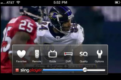 The SlingPlayer Mobile iPhone app.