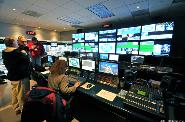 Super Bowl video control room