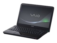 "Sony VAIO E Series VPC-EA43FX/BJ - Core i3 380M / 2.53 GHz - Windows 7 Home Premium 64-bit - 4 GB RAM - 320 GB HDD - DVD SuperMulti - 14"" wide 1366 x 768 / HD - Intel HD Graphics - gunmetal black - keyboard: QWERTY"