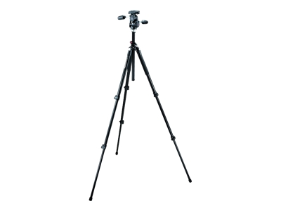 Manfrotto Pro 055XPROB Tripod (with 808RC4 HD Pan Tilt Head, Black)