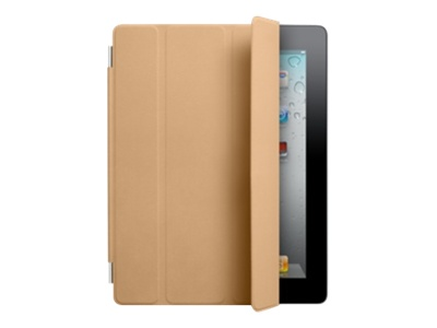Apple Smart Cover - Protective cover for web tablet - leather - tan - for iPad 2