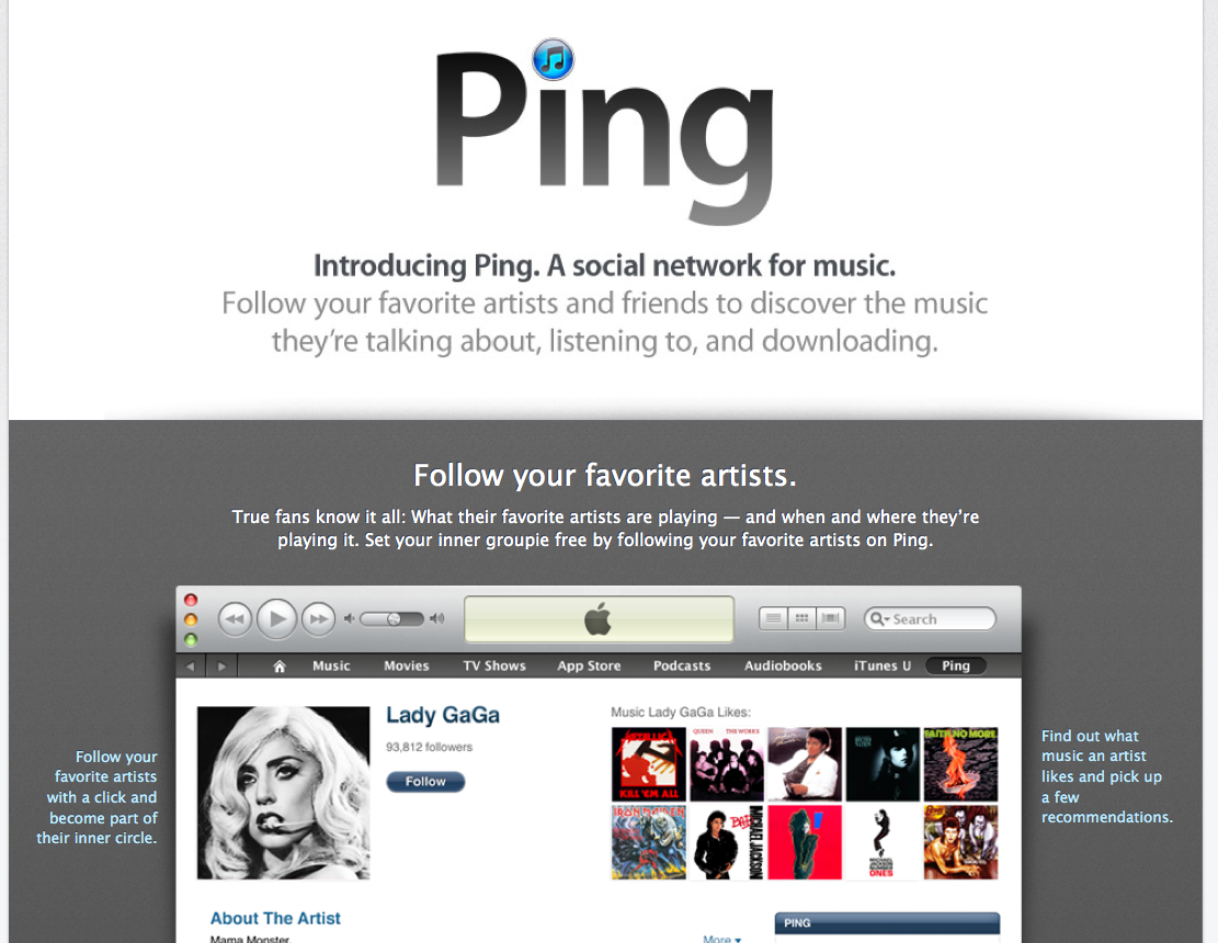 Apple has a dud every once in a while, and Ping makes our list.