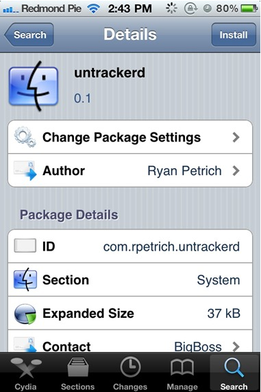 Untrackerd lets iPhone users wipe historical location data from their devices, but only on phones that have been jailbroken to run unapproved apps.