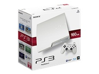 Sony PlayStation 3 Slim (160GB, White)