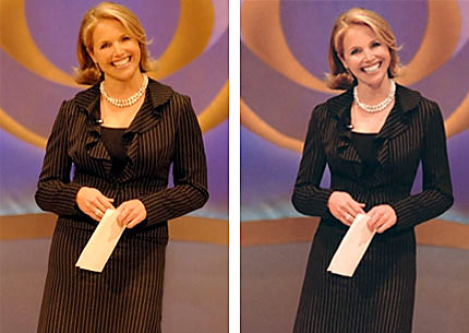 Doctored Katie Couric photo