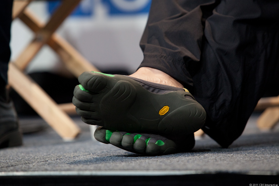 Sergey's signature toed shoes