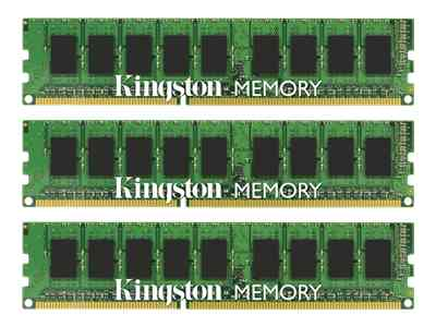 Kingston ValueRAM memory - 12 GB : 3 x 4 GB - DIMM 240-pin - DDR3