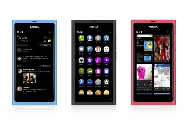 The Nokia N9 comes in three colors.