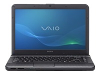 "Sony VAIO E Series VPC-EG13FX/B - Core i5 2410M / 2.3 GHz - Windows 7 Home Premium 64-bit - 4 GB RAM - 500 GB HDD - DVD-Writer - 14"" wide 1366 x 768 / HD - Intel HD Graphics 3000 - charcoal black - keyboard: QWERTY"